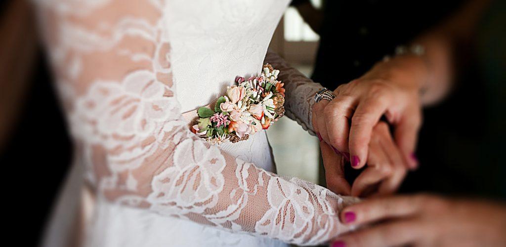 Mafalda vestida de novia