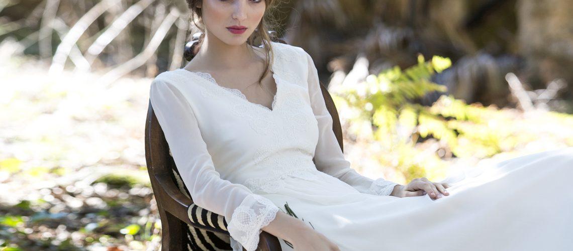 vestido novia manga larga