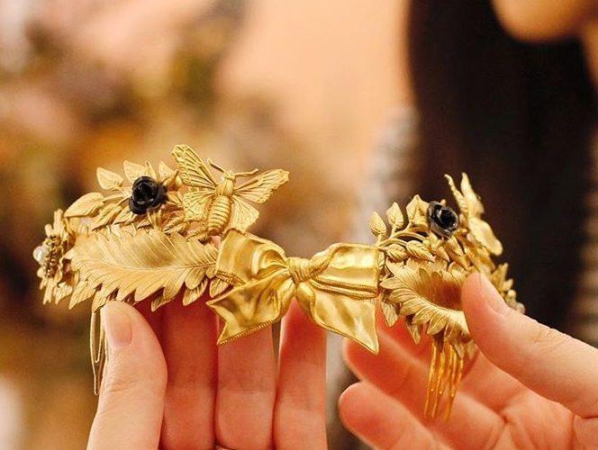 tocado-novia-dorado