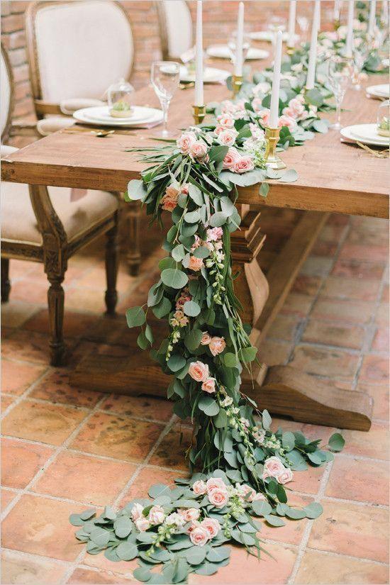 decoracion boda con eucalipto