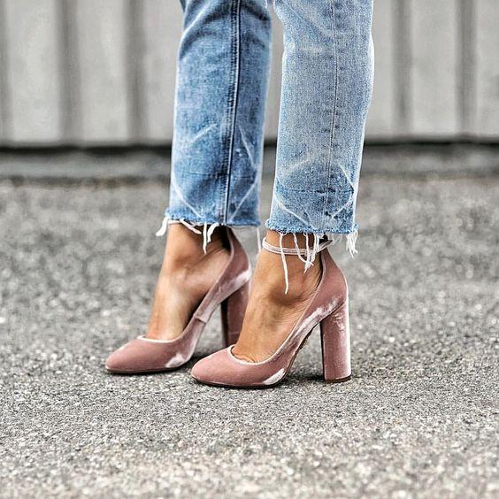 zapatos novia terciopelo