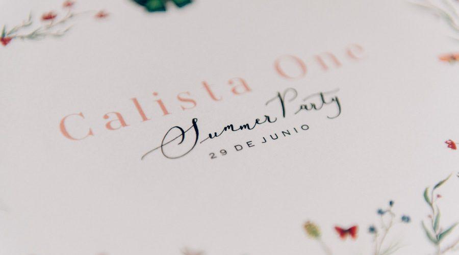 Calista One Summer Party blog y lista de bodas 1
