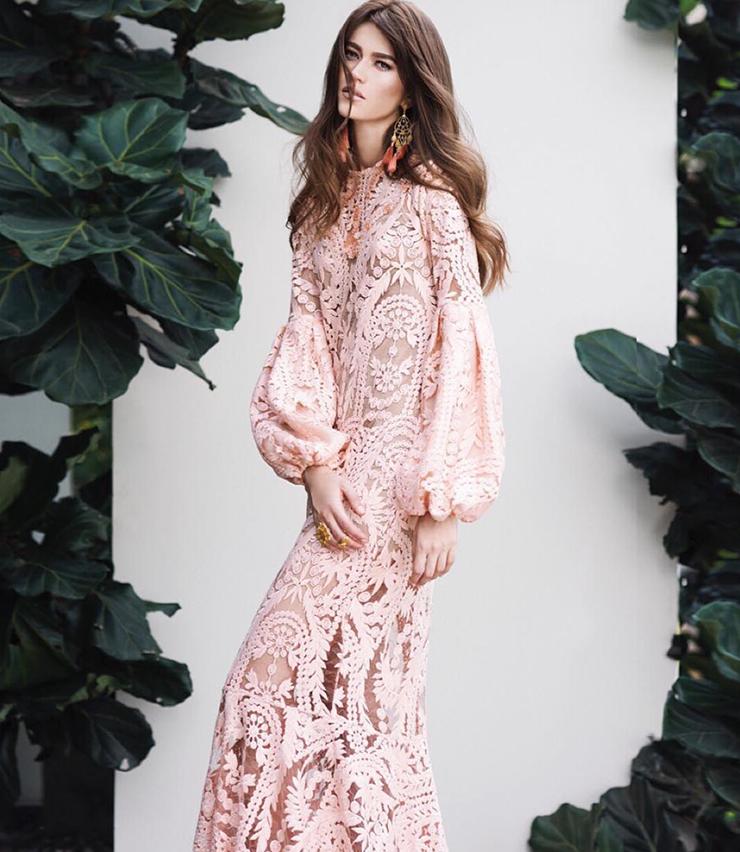 vestido rosa novia