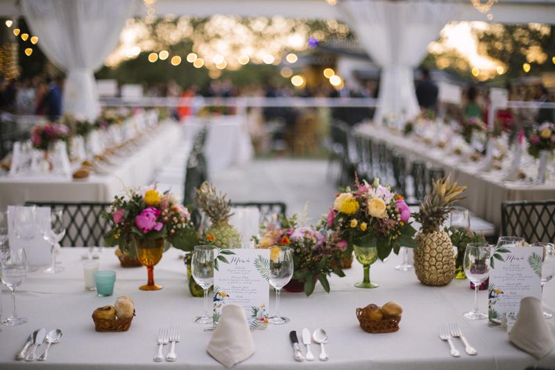 Organización banquete exterior boda