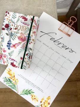 Agenda de la novia más calendario